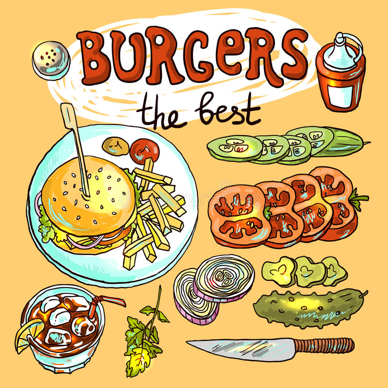 Hamburguesas libre illustration