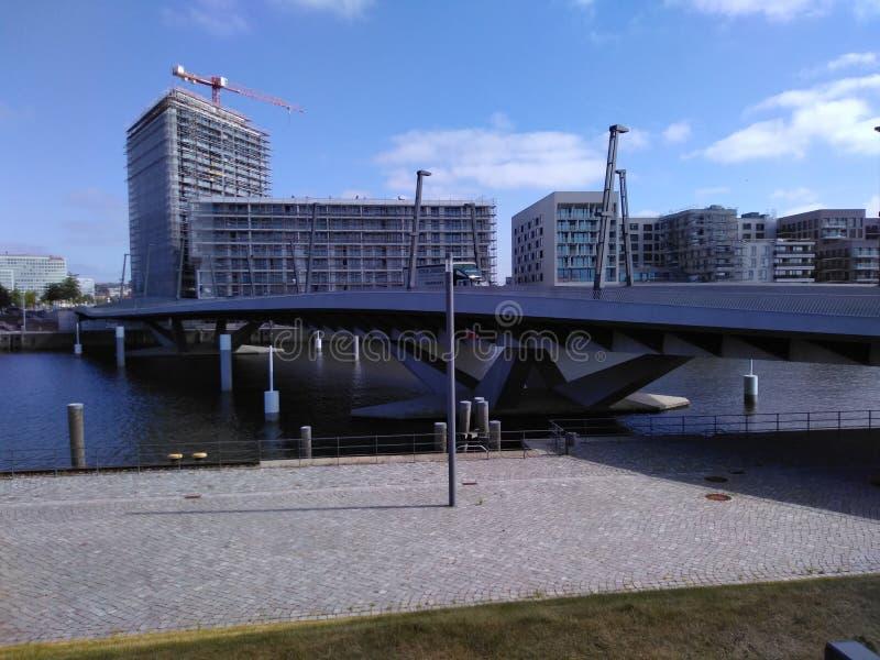 Hamburska miasta sonniger etykietka zdjęcie stock