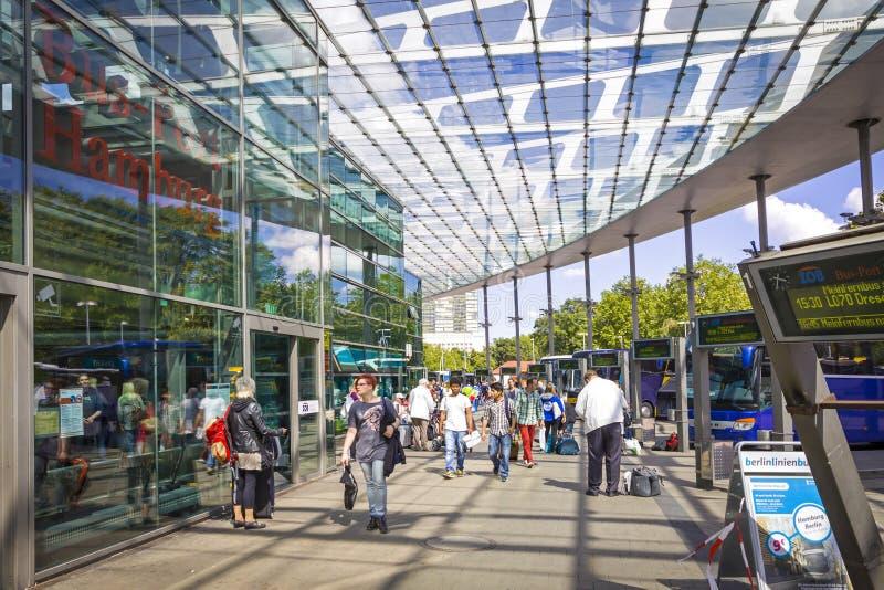 Hamburski Środkowy przystanek autobusowy ZOB, Niemcy obrazy royalty free