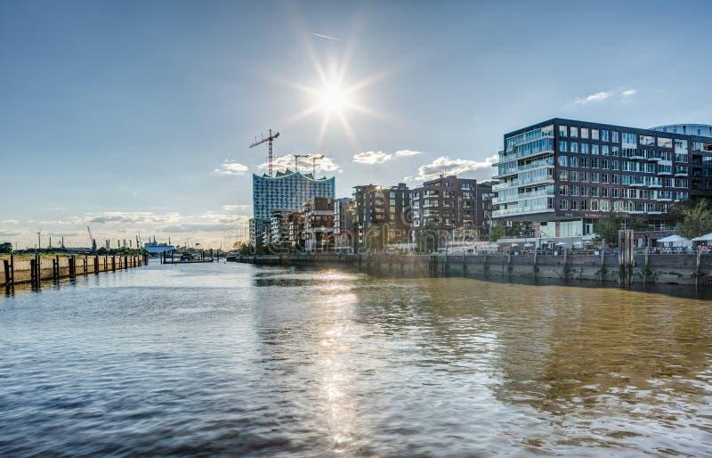 Hamburski Hafencity HDR obraz royalty free