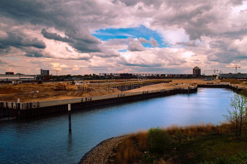 Hamburski Hafencity/miasta port zdjęcia stock