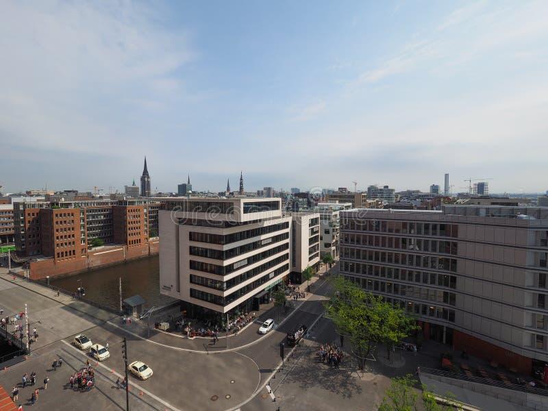 Hamburski linia horyzontu widok obrazy stock