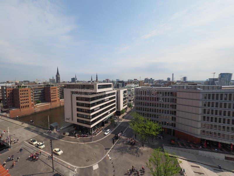 Hamburski linia horyzontu widok fotografia royalty free
