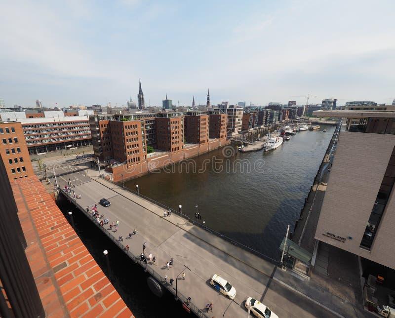 Hamburski linia horyzontu widok obraz royalty free