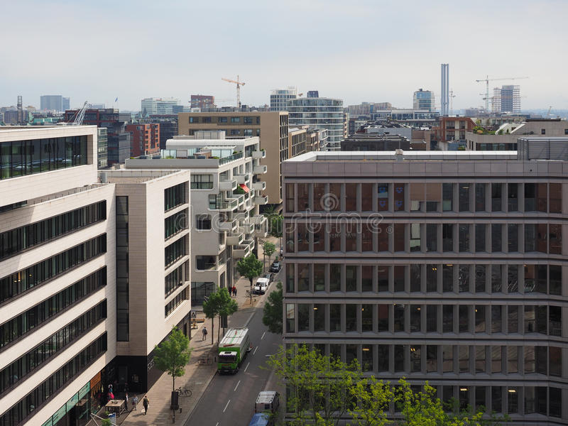 Hamburski linia horyzontu widok obrazy royalty free