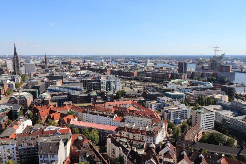 Hamburski miasto, Niemcy fotografia royalty free