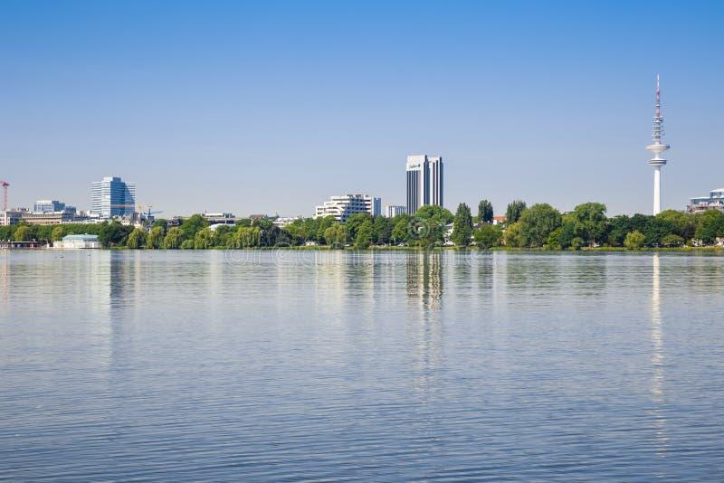 Hamburski miasto widok obrazy royalty free