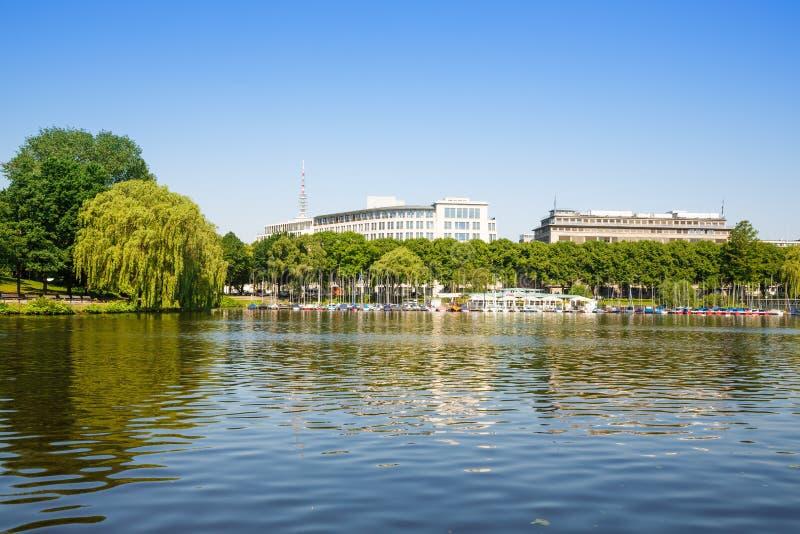 Hamburski miasto widok fotografia stock