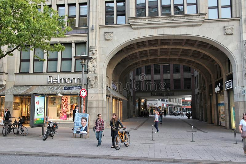 Hamburski Rathausmarkt fotografia royalty free