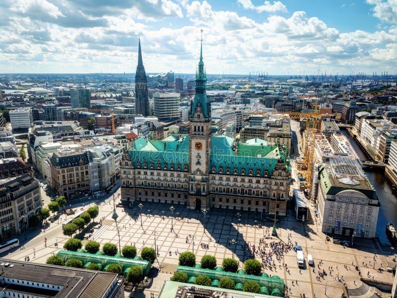Hamburski Targowy kwadrat zdjęcie stock