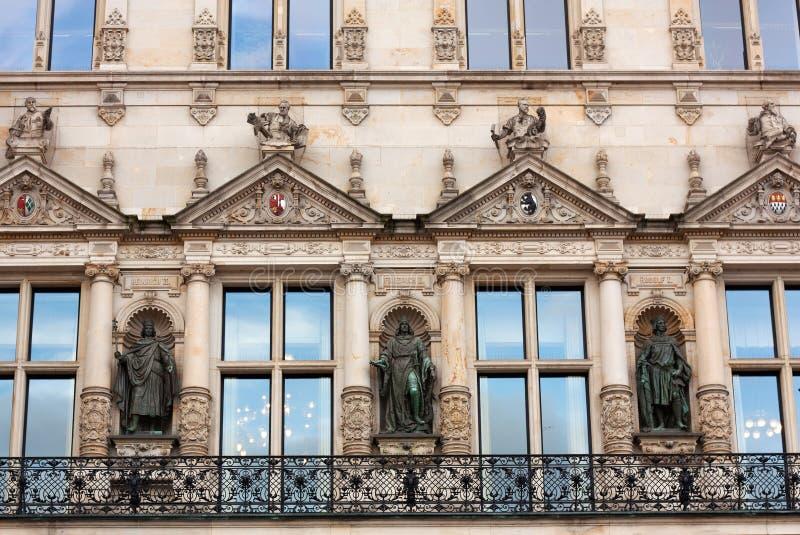 Hamburski urząd miasta obrazy royalty free