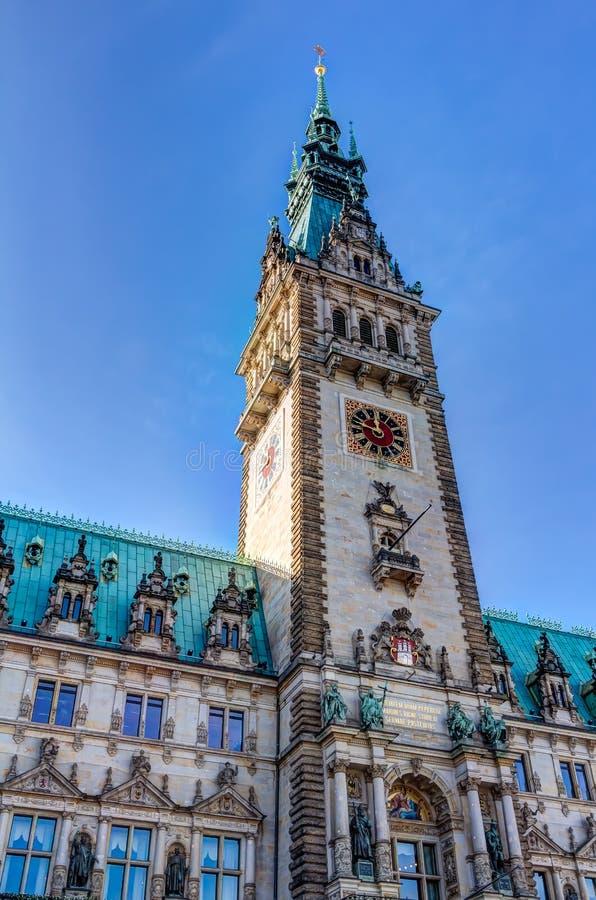 Hamburski urząd miasta zdjęcia stock