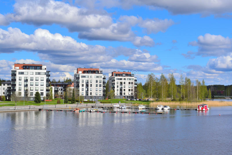 Hameenlinna, Finnland stockfoto