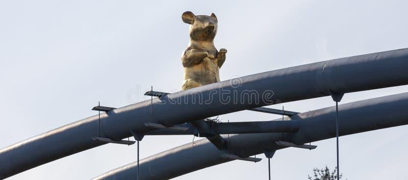 hameln Germania della statua del ratto fotografie stock libere da diritti