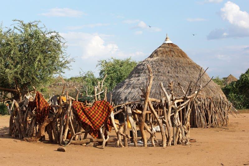 Hamer, Эфиопия, Африка стоковая фотография