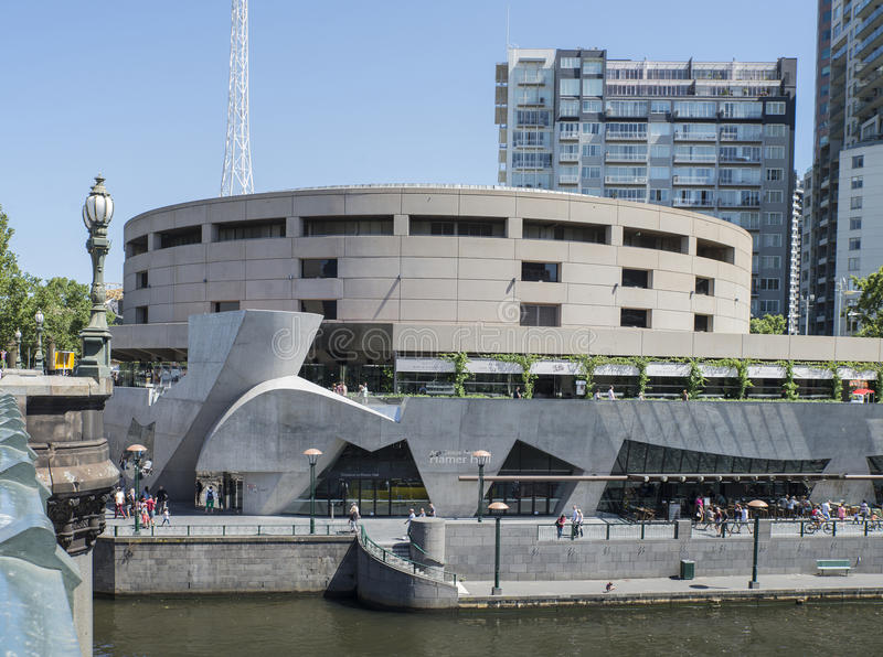 Hamer Hall, центр искусств Мельбурна, Австралия стоковая фотография rf