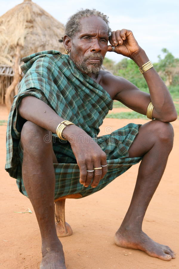Hamer Man Near Turmi, Ethiopia Editorial Photography