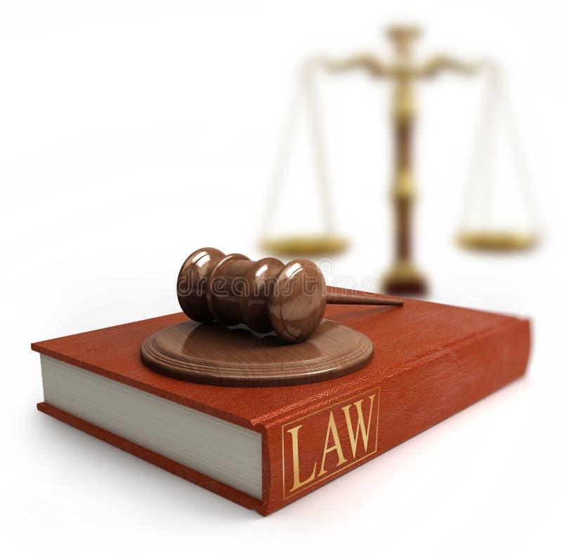 Hamer, schalen en wetsboek vector illustratie