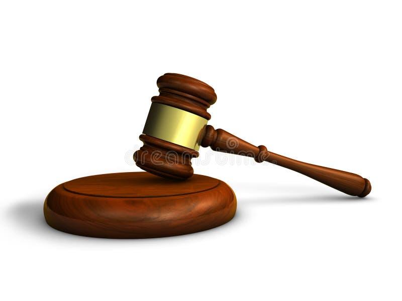 Hamerwet en Rechtvaardigheid Symbol stock afbeeldingen