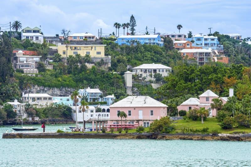 Hamilton Bermuda widok zdjęcie stock