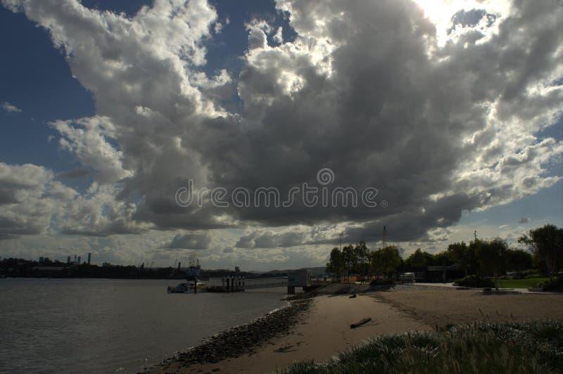 Hamilton brzeg chmury Północna formacja obraz stock