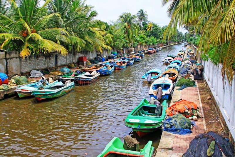 Hamilton Canal Negombo Sri Lanka arkivbild