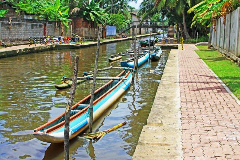 Hamilton Canal, Negombo Sri Lanka royalty-vrije stock afbeeldingen
