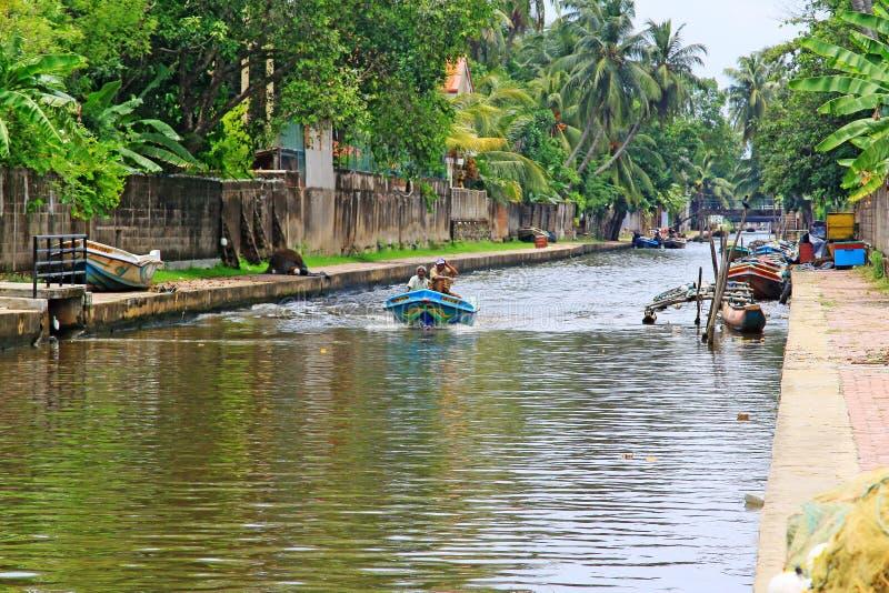Hamilton Canal, Negombo Sri Lanka royalty free stock photo