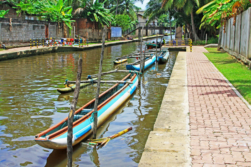 Hamilton Canal, Negombo Sri Lanka royalty free stock images