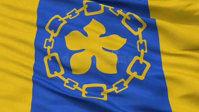 Hamilton City Flag, Canadá, opinión del primer fotos de archivo libres de regalías