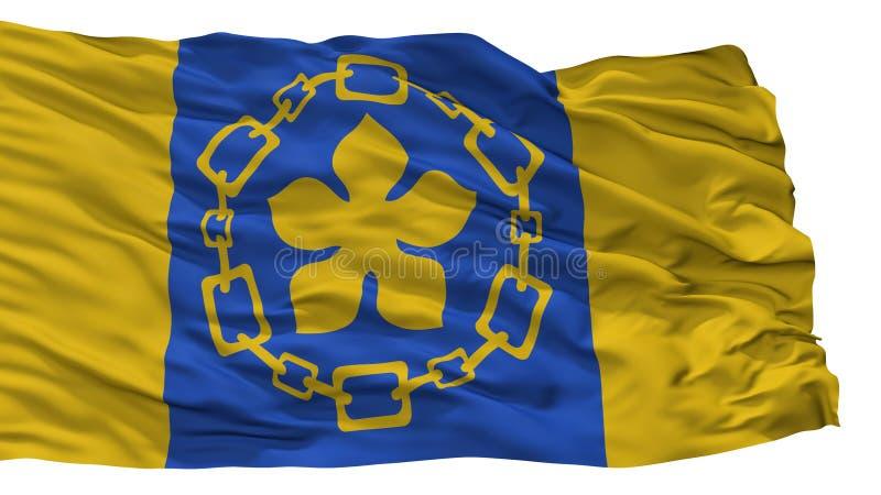 Hamilton City Flag, Canada, op Witte Achtergrond wordt geïsoleerd die royalty-vrije illustratie