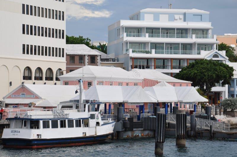 Hamilton du centre en Bermudes image libre de droits