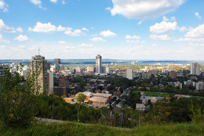 Hamilton, miasto w Kanada zdjęcia stock