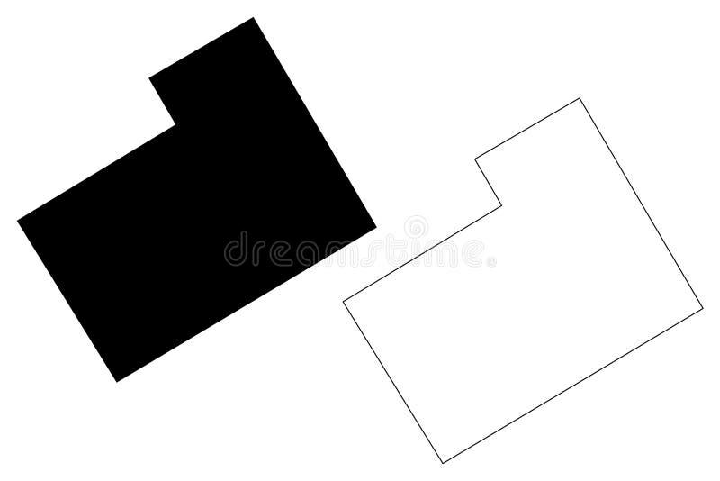 Hamilton okręg administracyjny, Teksas okręgi administracyjni w Teksas, Stany Zjednoczone Ameryka, usa, U S , USA mapy wektorowa  ilustracja wektor