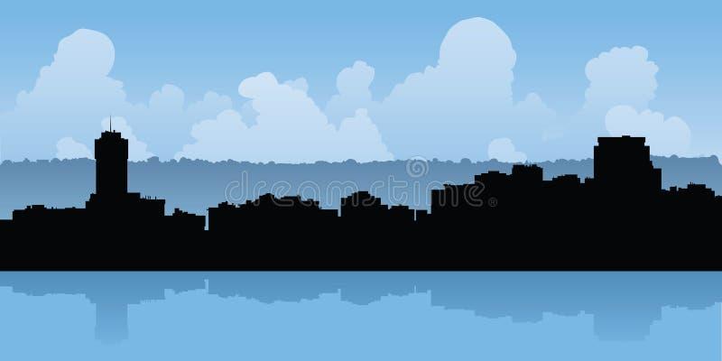 Hamilton, Ontario Skyline. Skyline silhouette of the city of Hamilton, Ontario, Canada royalty free illustration