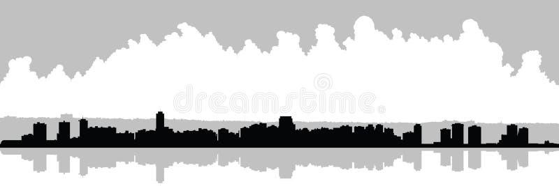 Hamilton, Ontario Skyline. Skyline silhouette of the city of Hamilton, Ontario, Canada vector illustration