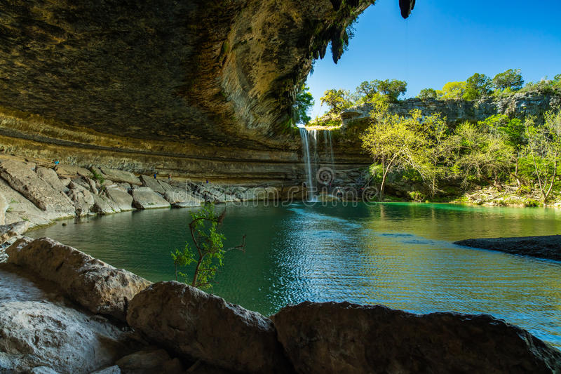 Hamilton Pool Texas imagens de stock