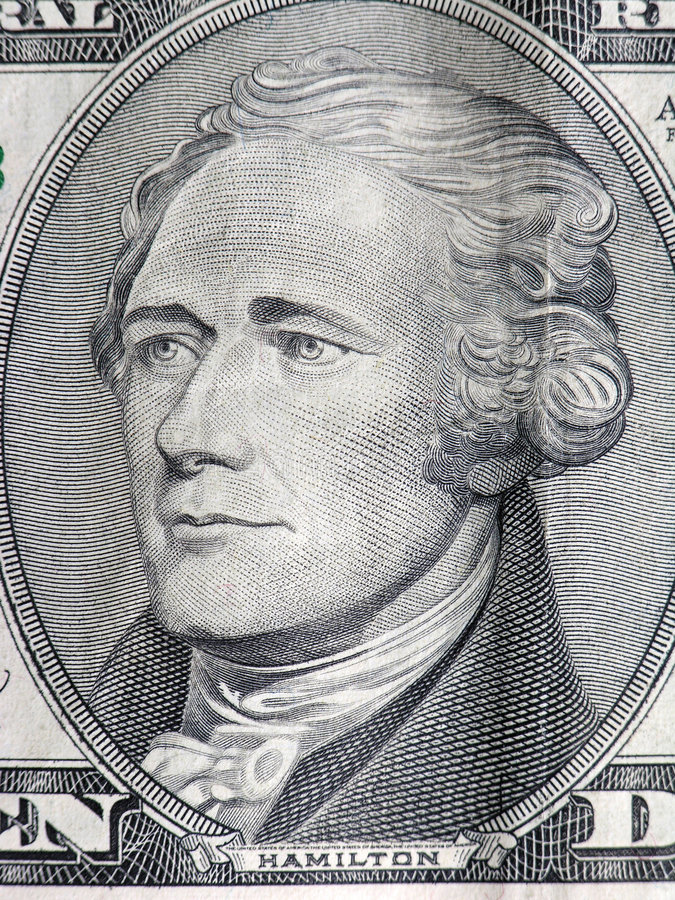 hamilton president arkivbild