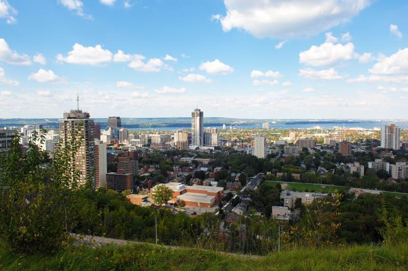 Hamilton, stad in Canada stock foto's