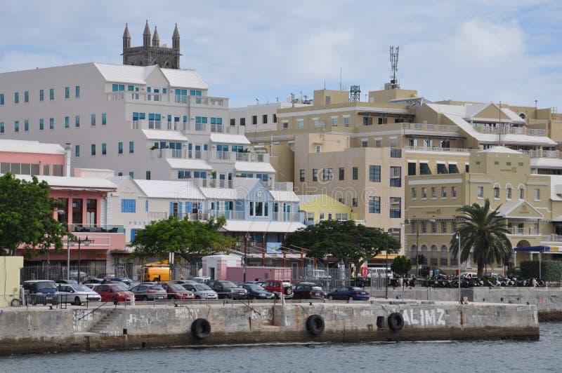 Hamilton van de binnenstad in de Bermudas royalty-vrije stock foto's