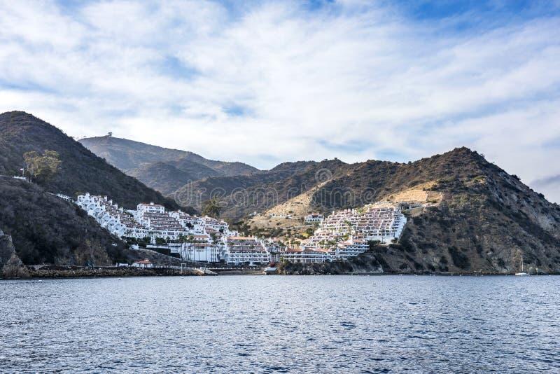 Hamilton zatoczki mieszkania własnościowe przy Catalina wyspą obrazy royalty free