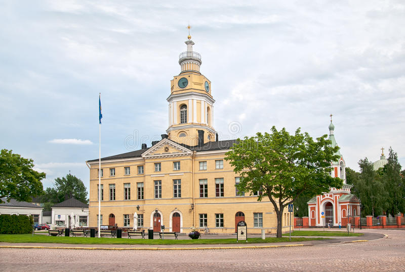 Hamina finland A cidade Hall Building imagens de stock