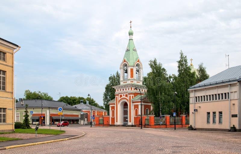 Hamina finland Igreja ortodoxa imagem de stock