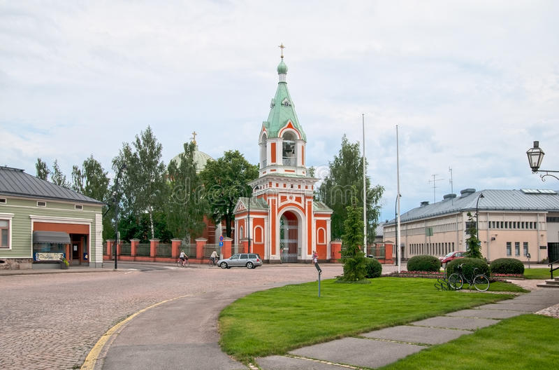 Hamina finland Igreja ortodoxa fotos de stock