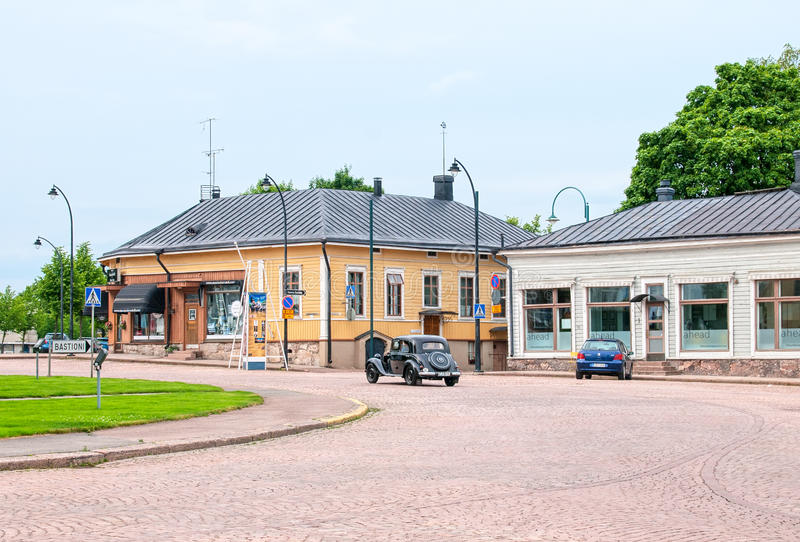 Hamina finland Quadrado da câmara municipal imagem de stock royalty free