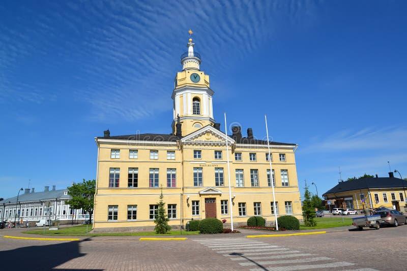 Hamina, Finlandia Uma câmara municipal da cidade no quadrado central fotografia de stock royalty free