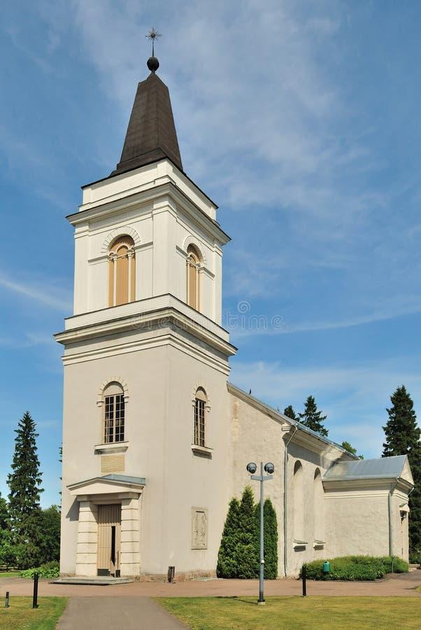 Hamina. Vehkalahti Church,14 century. stock images