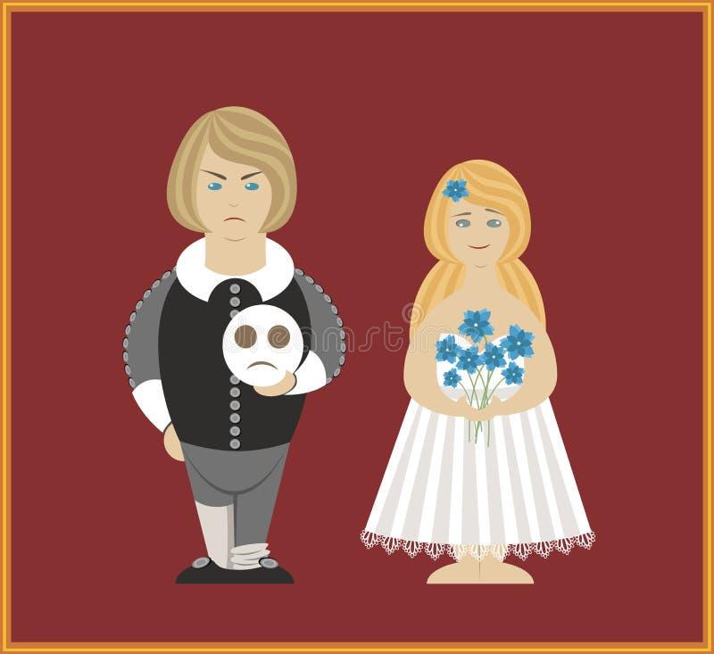 Hamlet e Othelia foto de stock royalty free