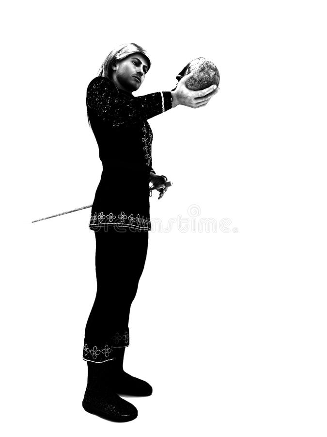 Download Hamlet Prince of Denmark stock illustration. Illustration of theatre - 14453177
