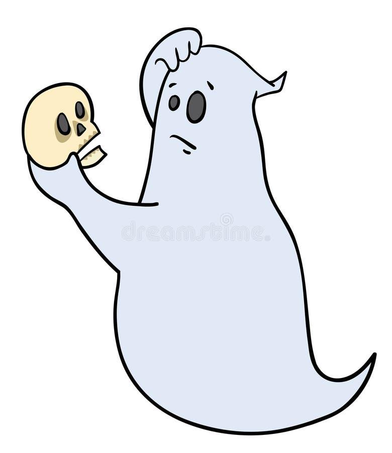 Hamlet spöke vektor illustrationer